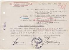 GERMAN WW2 RED CROSS DOCUMENT fr. GROSS-ROSEN KZ
