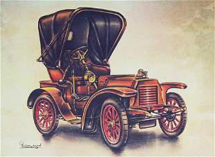 OLD PICTURE of AUTOMOBILE ARMSTRONG SIDDELEY, 1904