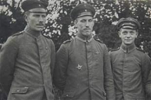 GERMAN WW1 PHOTO w. BADGE of GALLIPOLI STAR