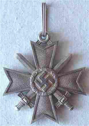 GERMAN WW2 KNIGHT CROSS, WAR MERIT CROSS w. SWORDS