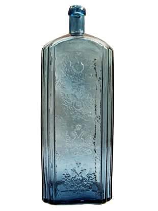 RARE ANTIQUE RUSSIAN GLASS VODKA BOTTLE, 1896