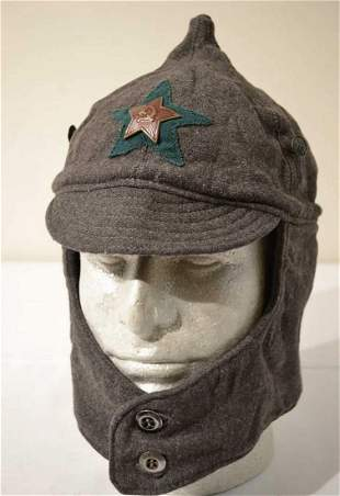 WWII SOVIET RUSSIAN RED ARMY BORDER GUARD BUDENOVKA,