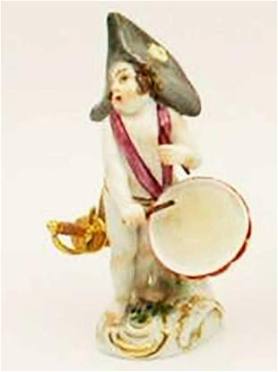 MEISSEN - PORCELAIN FIGURE of FRENCH SOLDIER, 19th C.
