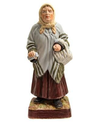 GARDNER - RUSSIAN PORCELAIN JEWISH FIGURINE, 19th