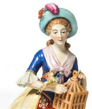 SAMPSON - FRENCH 19th C. PORCELAIN FIGURE