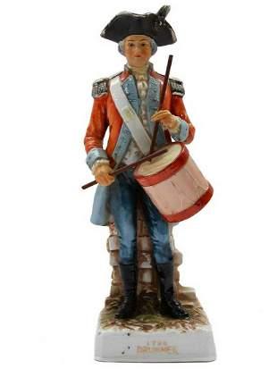 PORCELAIN DRUMMER FIGURINE, 1796 MARKED