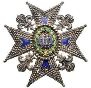 ORDER of CHARLES, COMMANDER of NUMBER STAR, 1771