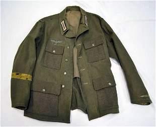AUTHENTIC WWII GERMAN ARMY UNIFORM, TUNIC
