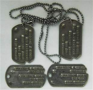 WW2 IDENTIFICATION TAG for OFFICERS