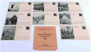 GERMAN WW2 8 POSTCARDS of NSDAP'S HISTORY