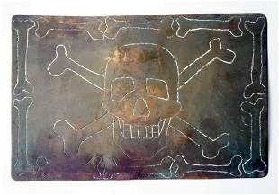 GERMAN WW2 POSTCARD w. SKULL & BONES