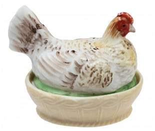 GARDNER - RUSSIAN IMPERIAL PORCELAIN BUTTER DISH 19th C