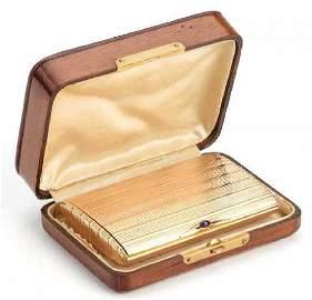 FABERGE - RUSSIAN IMPERIAL ROSE GOLD CIGARETTE CASE