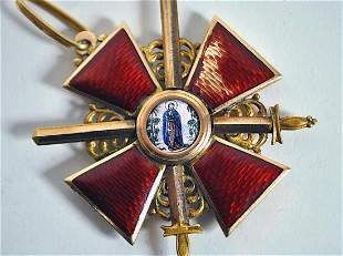 FABERGE - RUSSIAN ORDER of St. ANNE 2nd CLASS w. SWORDS