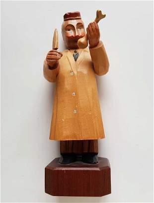 JEWISH DOCTOR FIGURINE of ANRI ART CARVED WOOD