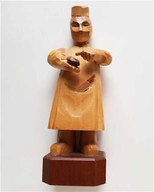 JEWISH OLD FIGURINE of ANRI ART CARVED WOOD