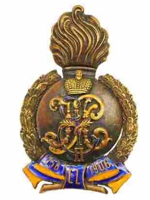 RUSSIAN BADGE 6th TAURIDE GRENADIER REGIMENT, 1908