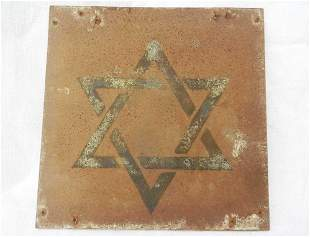 JEWISH WW2 PLATE w. STAR of DAVID fr. LITZMANNSTADT