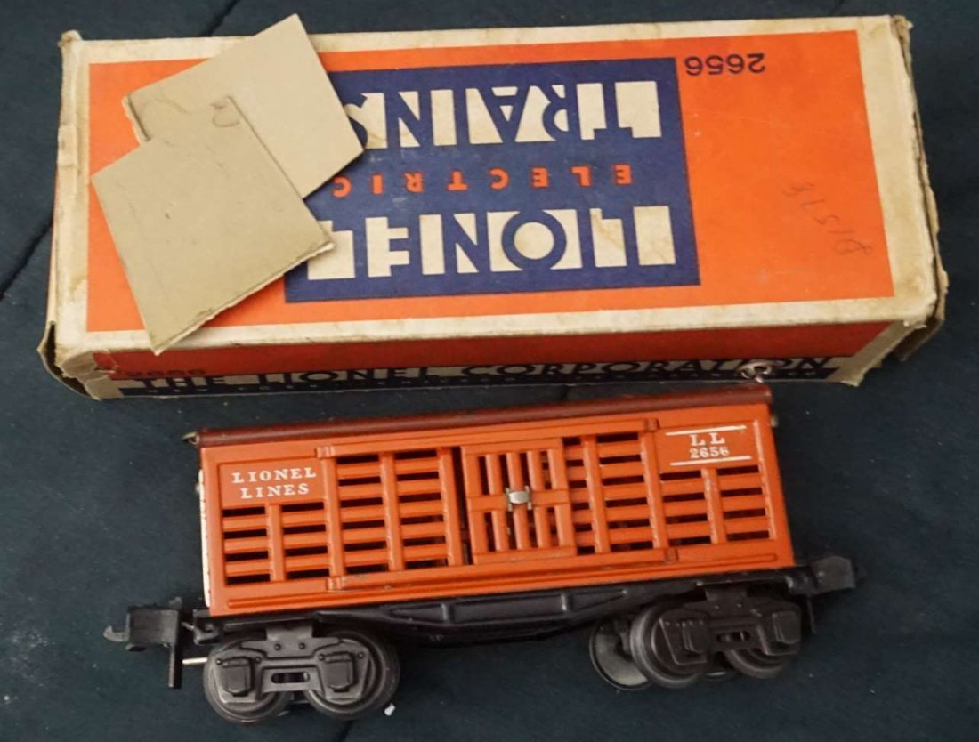 lionel 2656 cattle car ca 1940 boxed