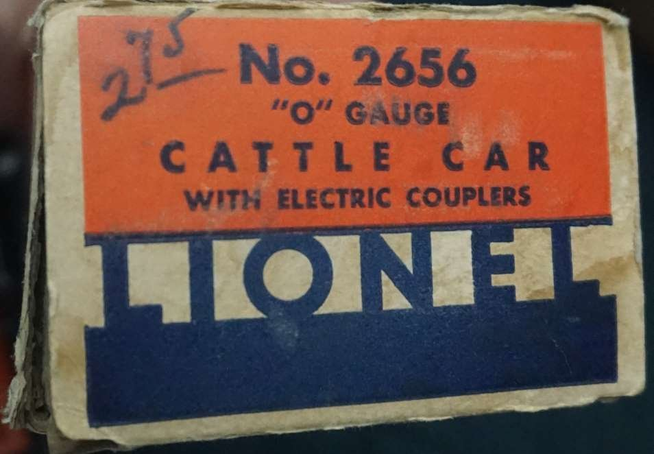 lionel 2656 cattle car ca 1940 boxed - 4
