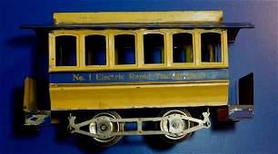 Lionel No. 1 Trolley Trailer circa 1910 clean!