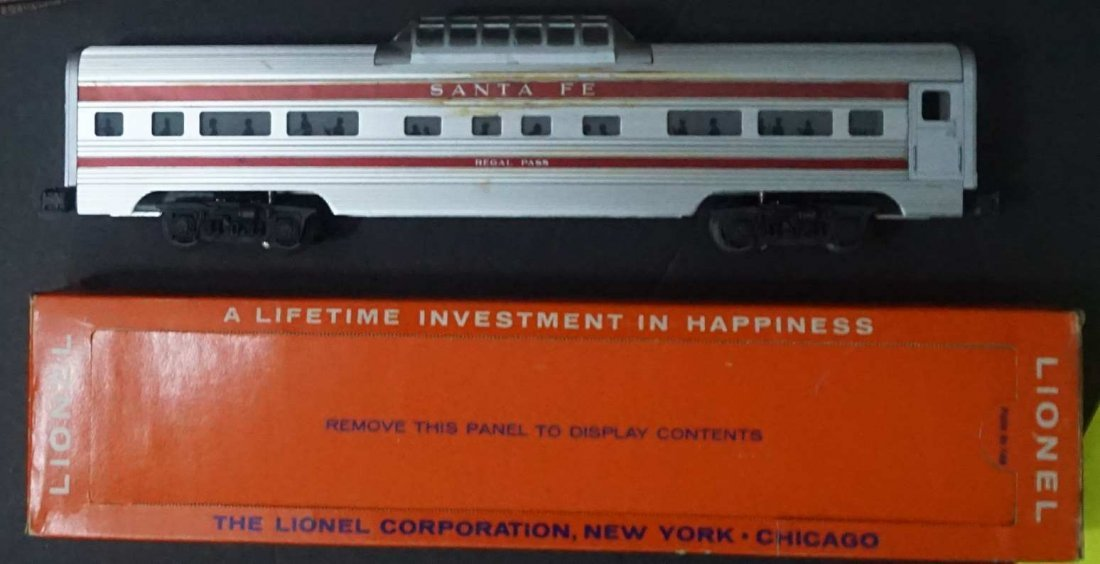 lionel 2562 santa fe super chief vista c9 mint ob