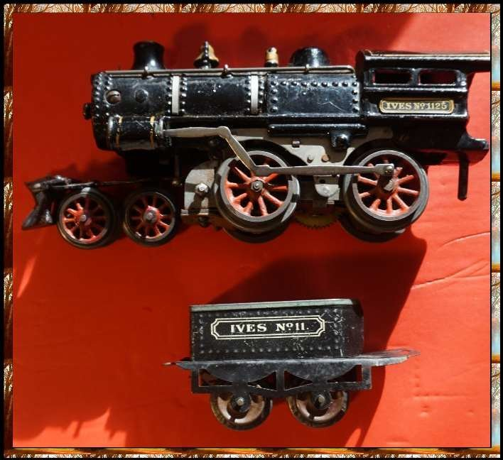 ives 1125 loco and 11 tender ca 1912 excellent