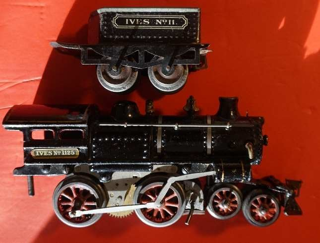 ives 1125 loco and 11 tender ca 1912 excellent - 2