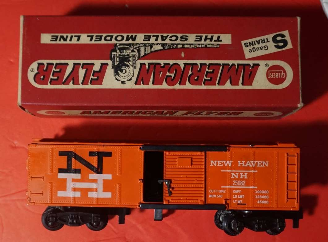 25082 american flyer new haven hay jector rare box