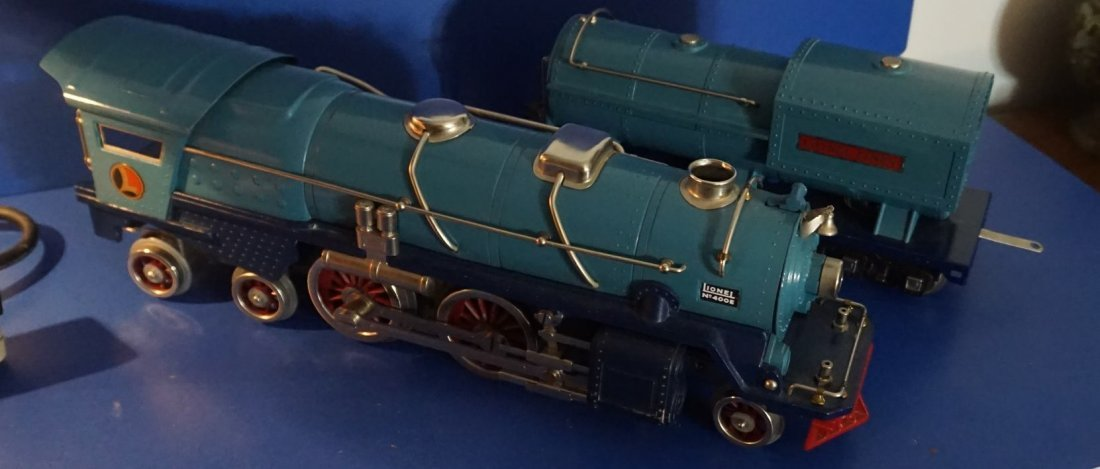 lionel  nickel  blue comet 400e locomotive ca 1936 400w