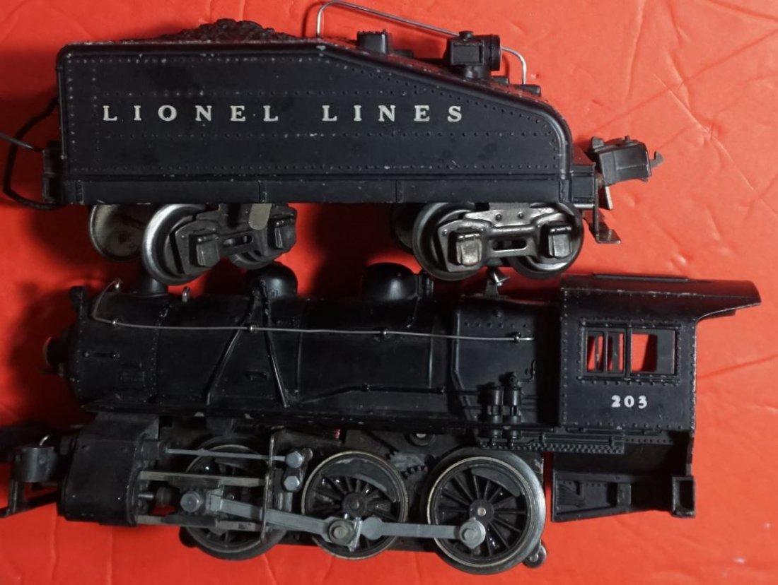 Lionel 203 203b switching locomotive ca 1940 - 4