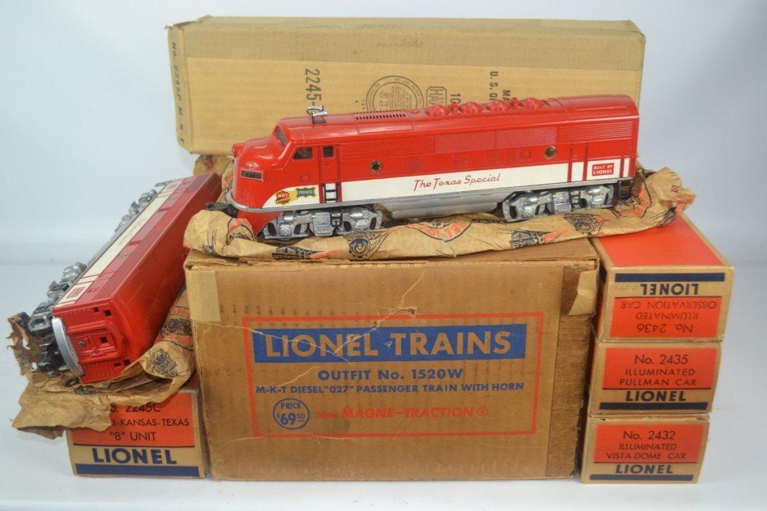 Lionel Postwar Texas Special Passenger Set #1520W
