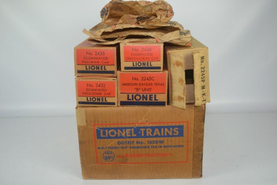 Lionel Postwar Texas Special Passenger Set #1520W - 9