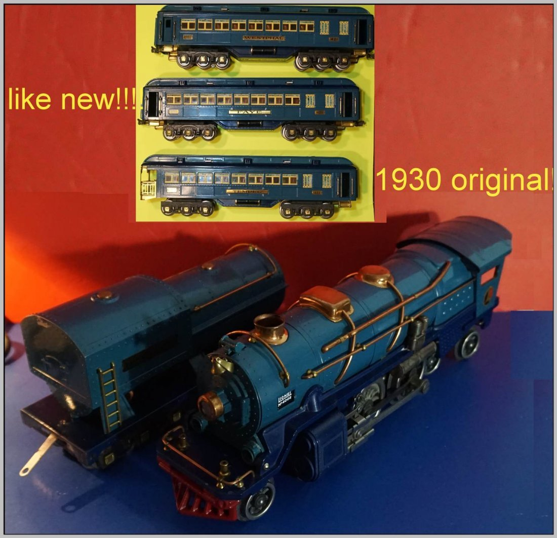 LIONEL 400E BLUE COMET SET 1930 C8! DARK BLUE