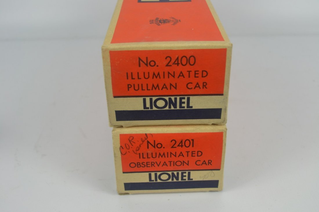 Lionel 2400 and 2401 Passenger Cars-OB - 2