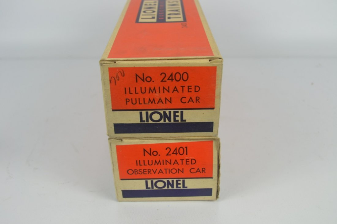 Lionel 2400 and 2401 Passenger Cars-OB - 3
