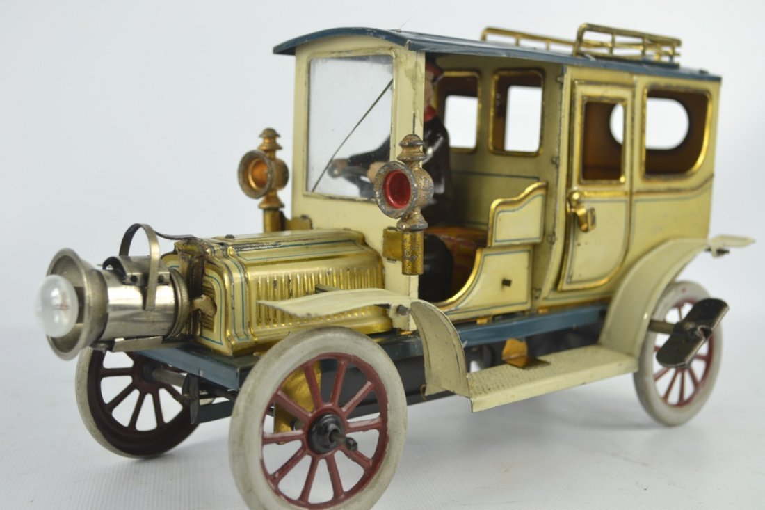 Carette Limousine Tin Litho Toy Car - 4