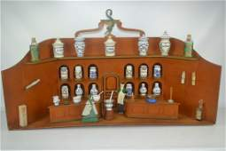 Antique Folk Art Apothecary Drug Store Display