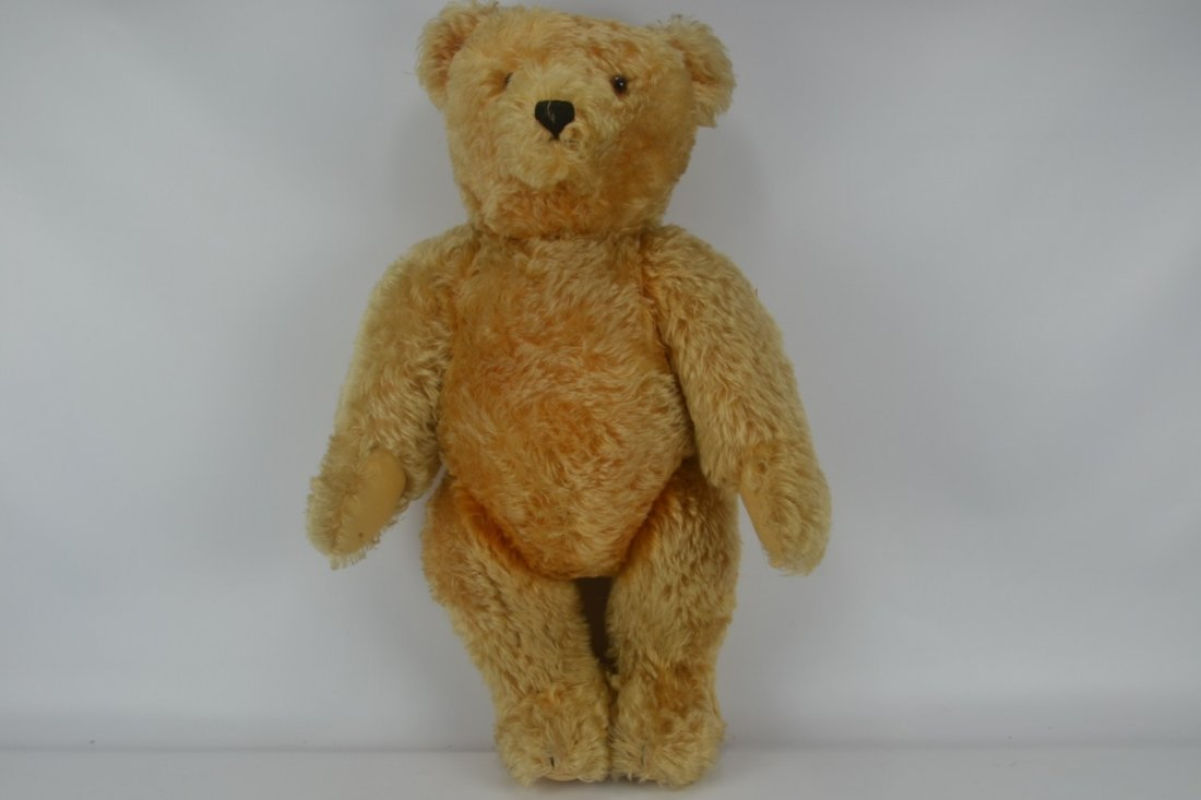 Antique XL Jointed Mohair Teddy Bear-Candy Container - 10
