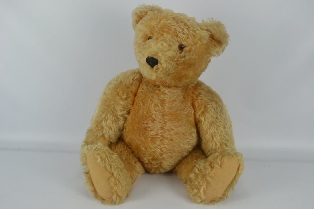 Antique XL Jointed Mohair Teddy Bear-Candy Container