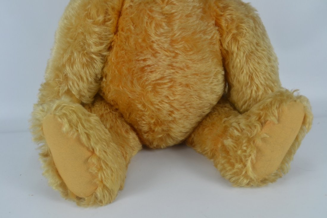 Antique XL Jointed Mohair Teddy Bear-Candy Container - 3