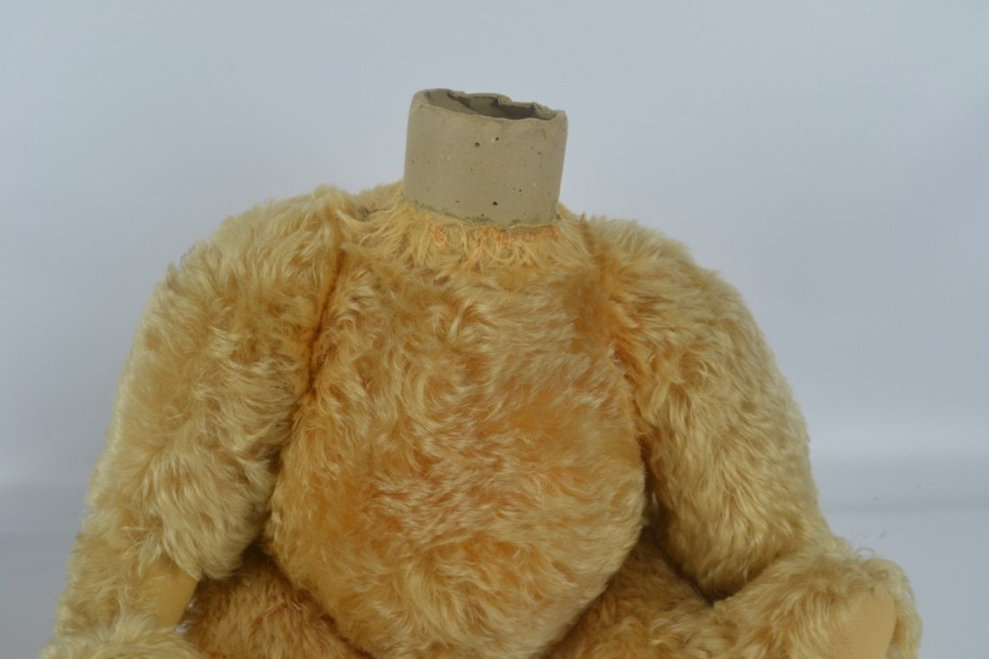 Antique XL Jointed Mohair Teddy Bear-Candy Container - 7
