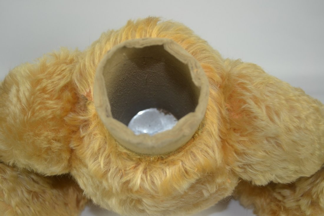 Antique XL Jointed Mohair Teddy Bear-Candy Container - 8