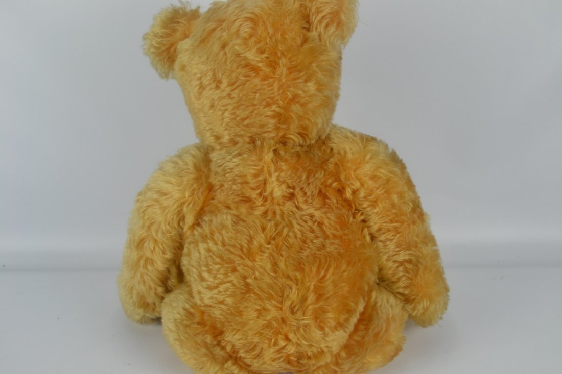 Antique XL Jointed Mohair Teddy Bear-Candy Container - 9