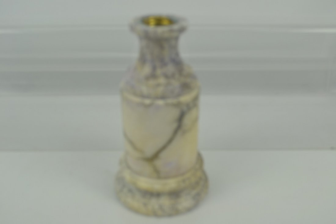 Antique Marble Tazza Bowl on Pedestal - 5