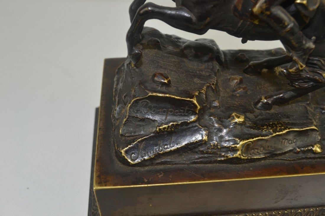 Antique Napoleon Bronze Statue-Inkwell Signed - 5
