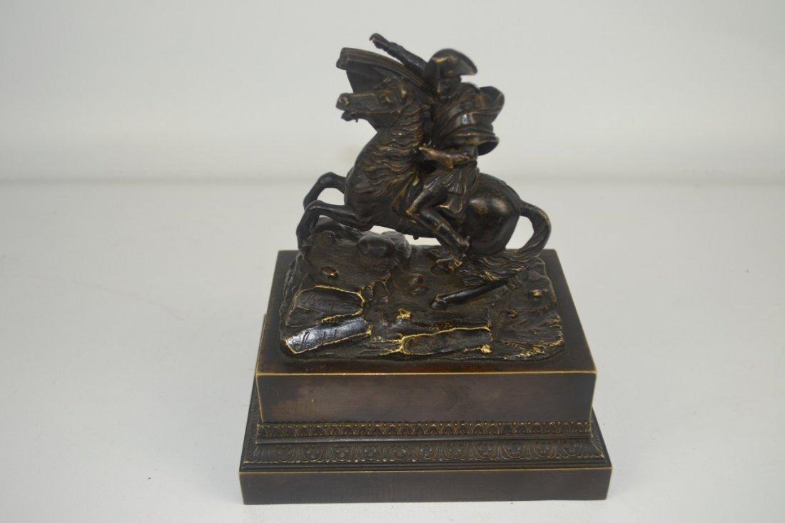 Antique Napoleon Bronze Statue-Inkwell Signed - 7