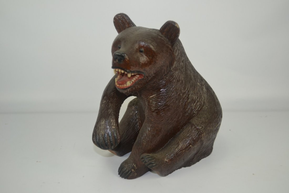 "Carved German Black Forest Bear- 12"" tall"