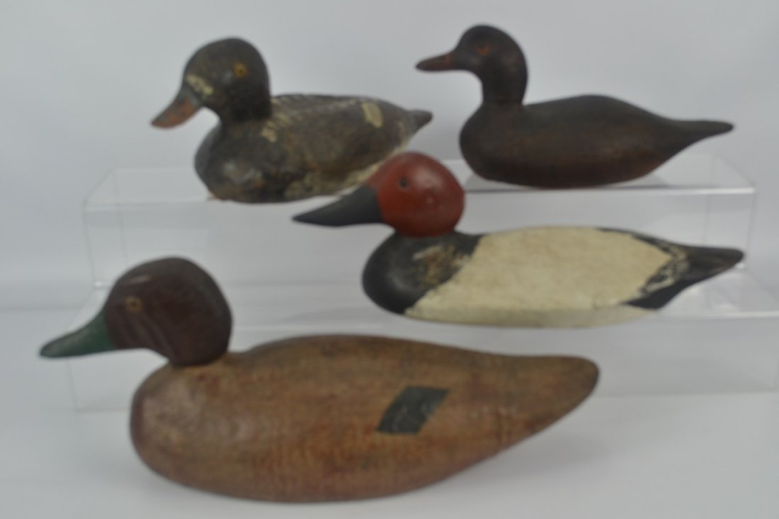 Lot of Four (4) Antique Duck Decoys