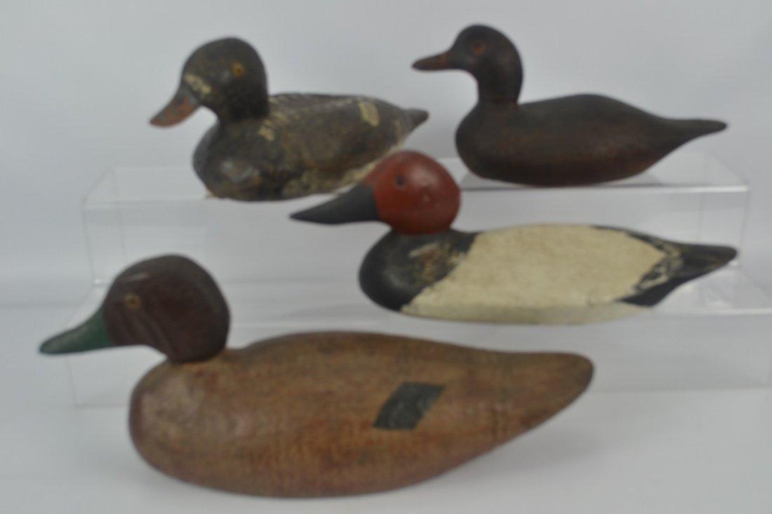 Lot of Four (4) Antique Duck Decoys